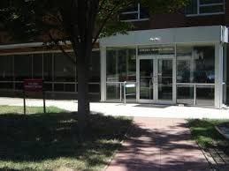 Front sidewalk to the Etscorn Honors Center with a tree